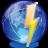 communication internet rapide comme l'éclaire qui résonne sur le monde