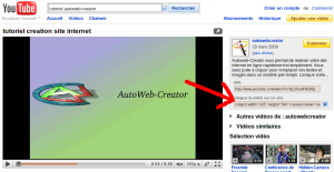 lecteur video exportable pour site autoweb-creator