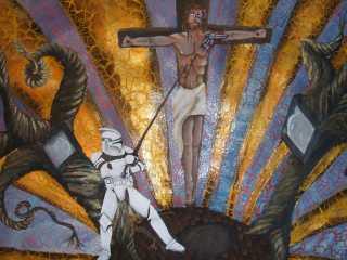 acrylique , chemin de croix